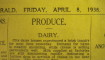 1938: Dairy was in Demand